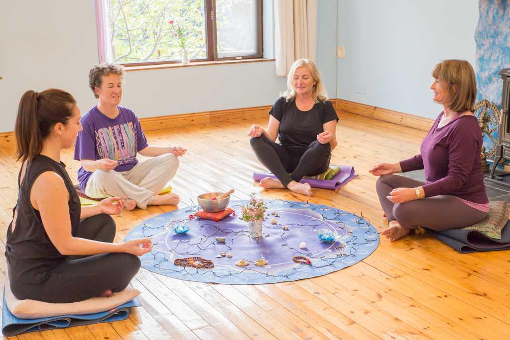 Meditation and restorative yoga