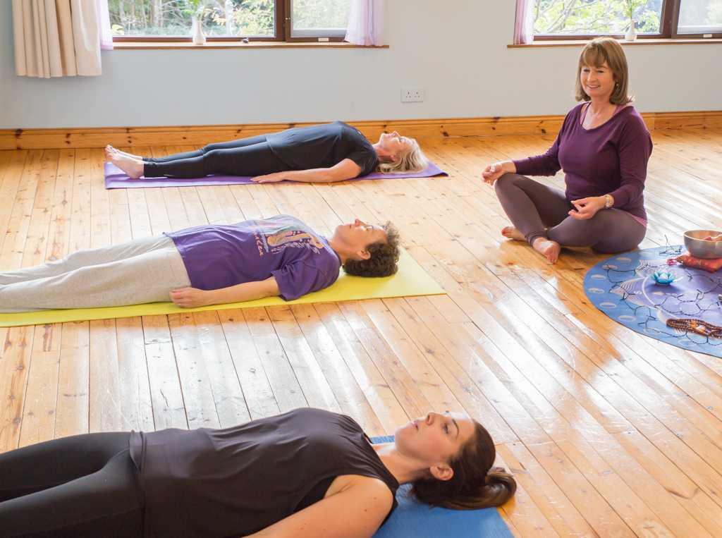 Restorative yoga retreat