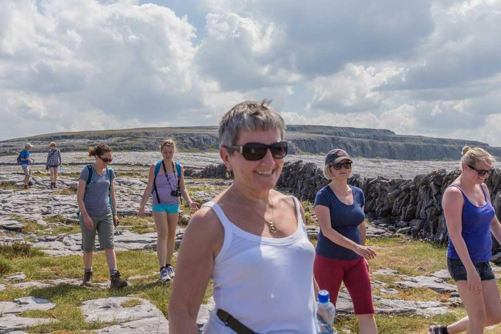 All ages hill walking Burren Yoga
