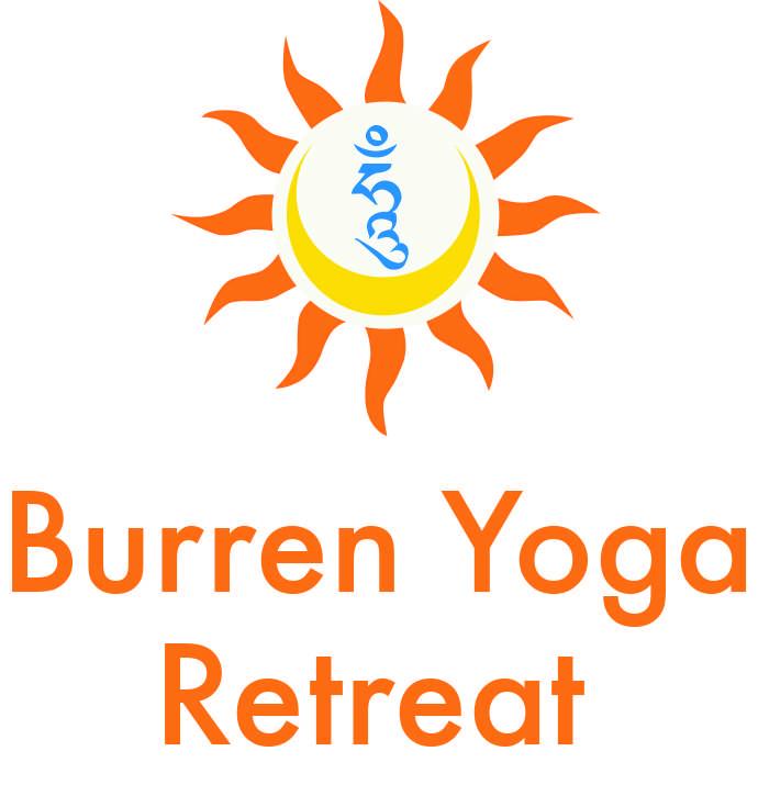Burren Yoga Retreat logo orange