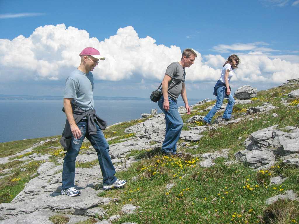 Hill climbing Burren Yoga