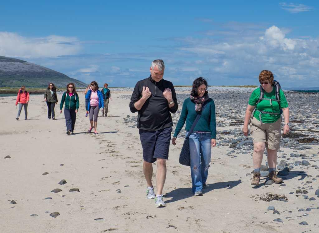 Beach walk Burren Yoga Retreat