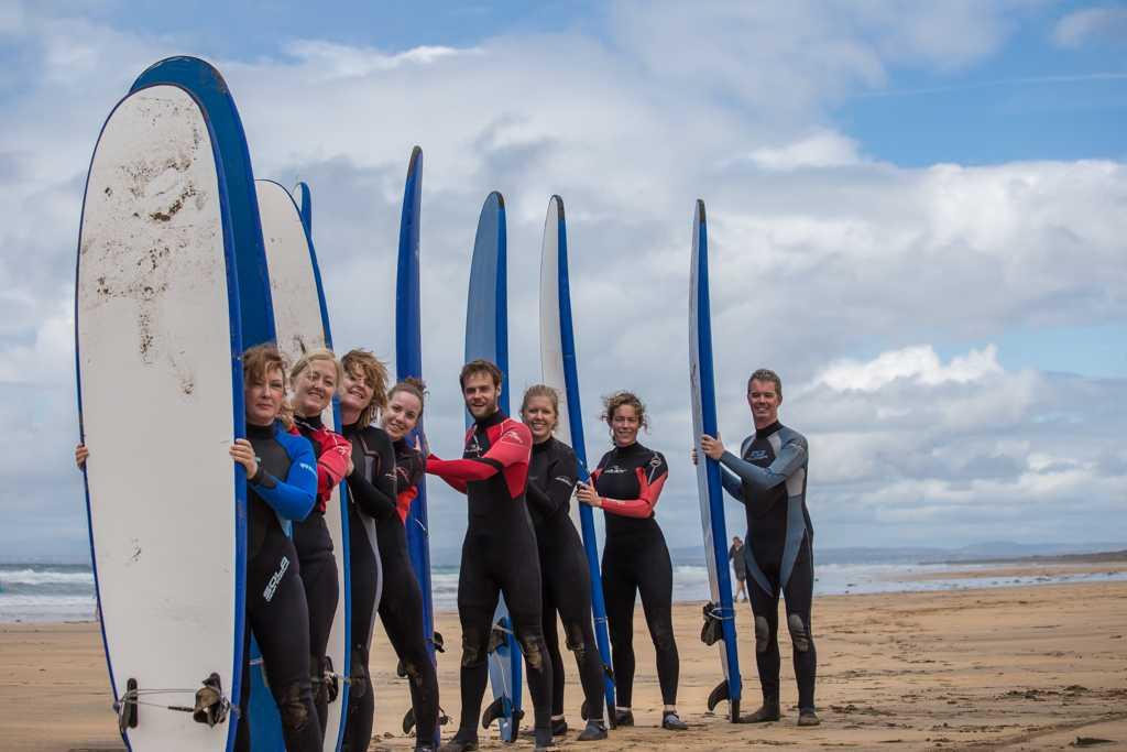 Surf school Burren yoga